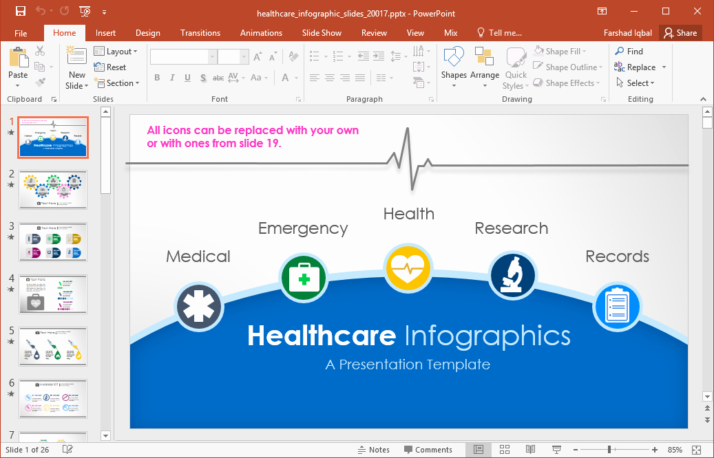 Animated Healthcare Infographics for Powerpoint