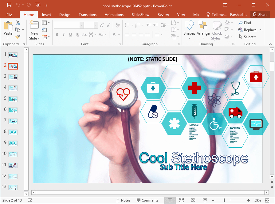 Animated Medical Powerpoint Template