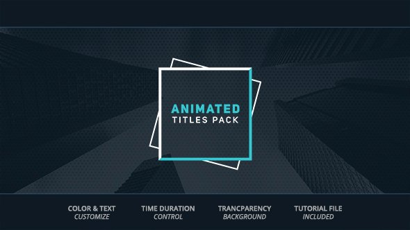 Animated Titles Corporate after Effects Templates