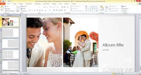 Anniversary Album Template for Powerpoint 2013