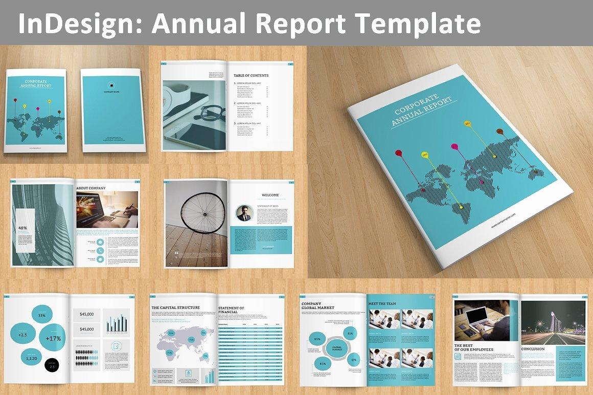 Annual Report V129 Brochure Templates Creative Market