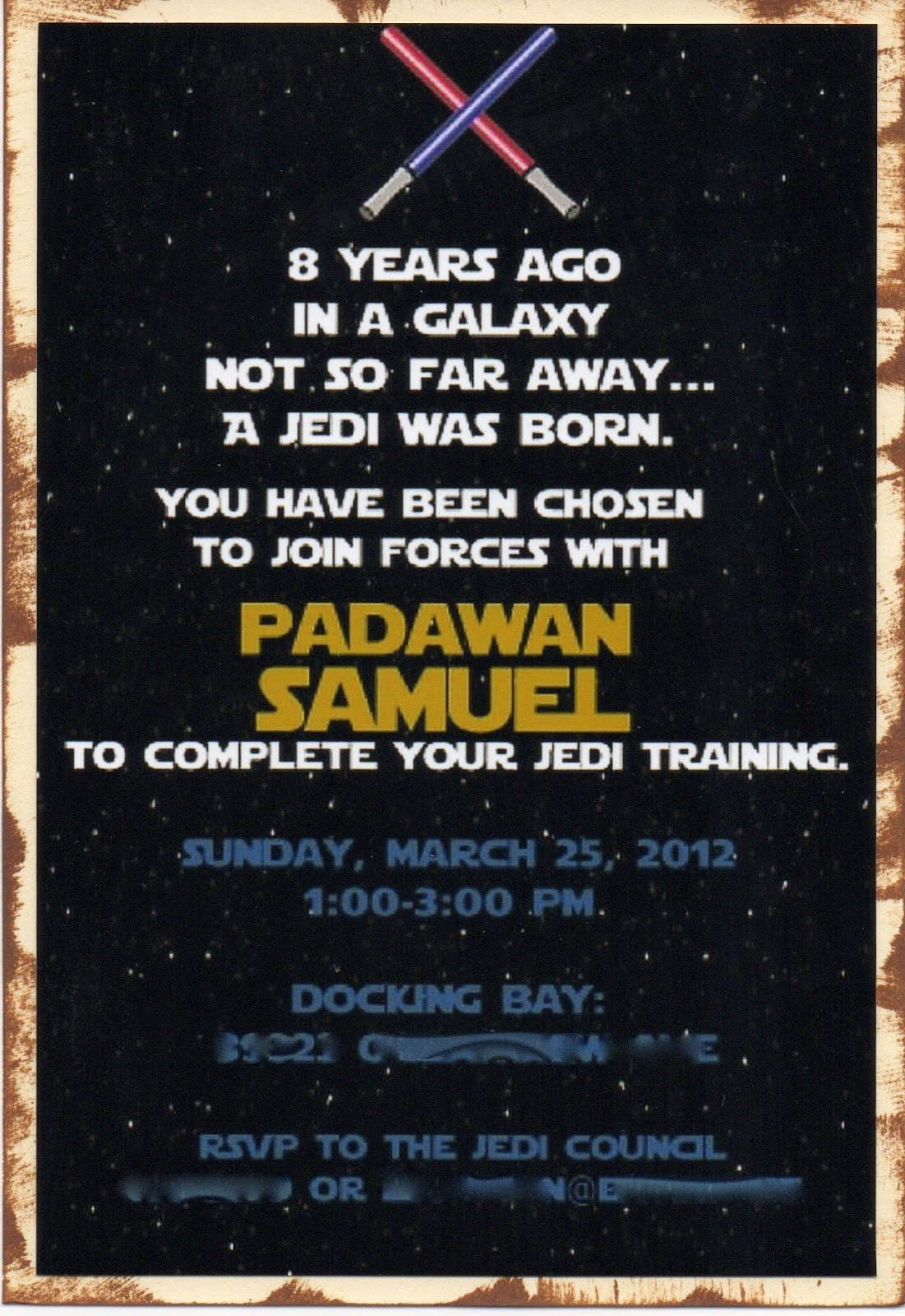Another Babin Creation Star Wars Birthday Invitation