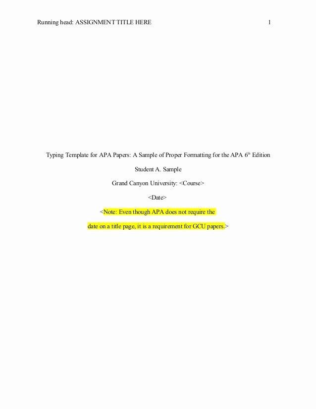 Apa format 6th Edition Template Microsoft Templates
