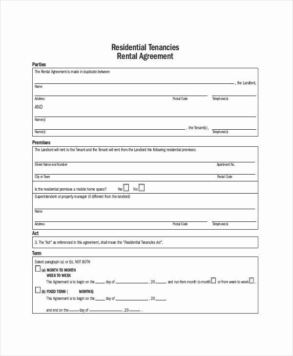 Apartment Rental Agreement – 8 Free Word Pdf Documents