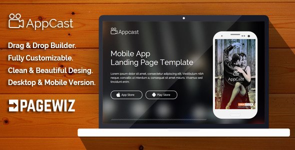 App Cast Mobile App Landing Page Template themeforx