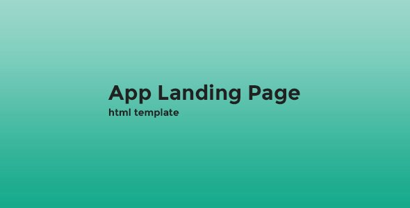 App Landing Page HTML Template Landing Pages