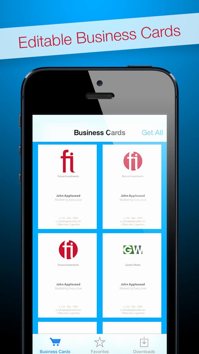 App Shopper Business Cards for Adobe Shop