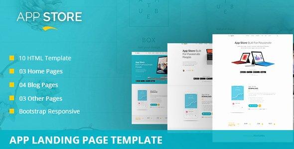 App Store – App Landing Page Template