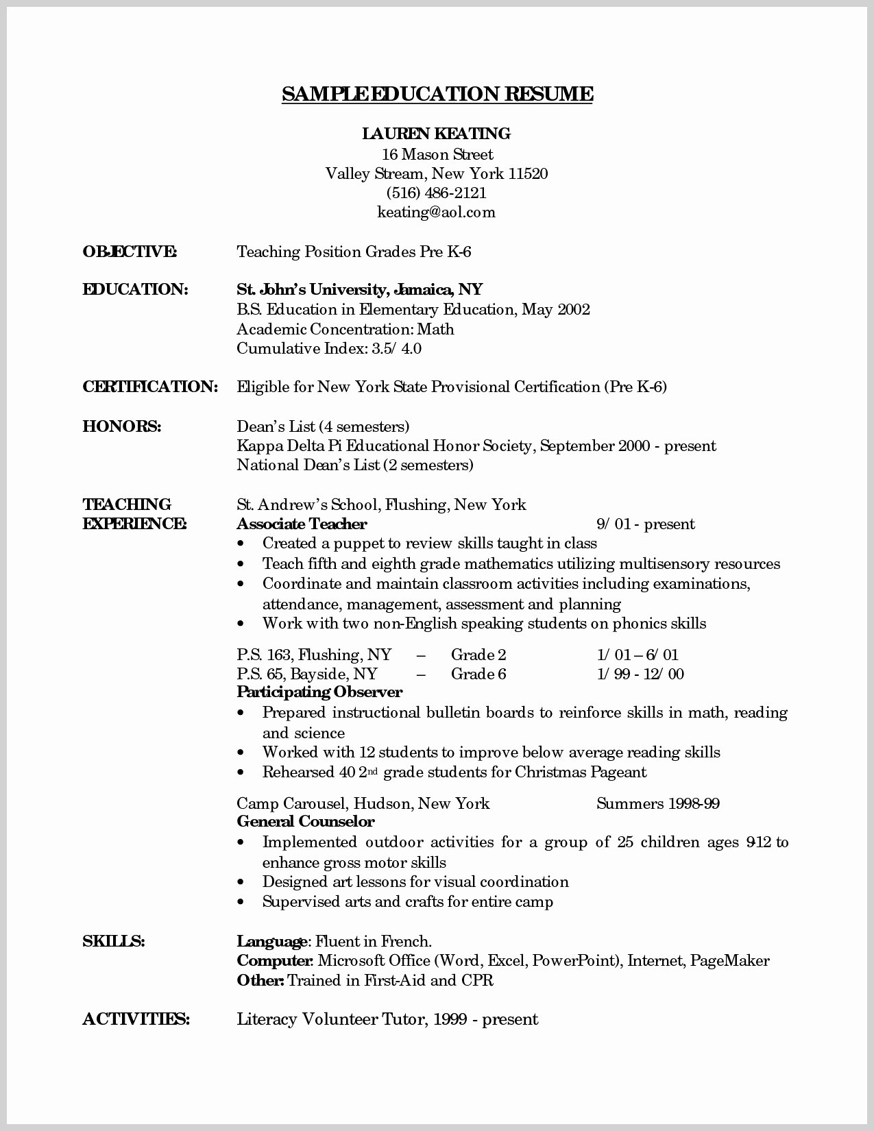 Appealing Pre K Teacher Resume Template Resume Ideas