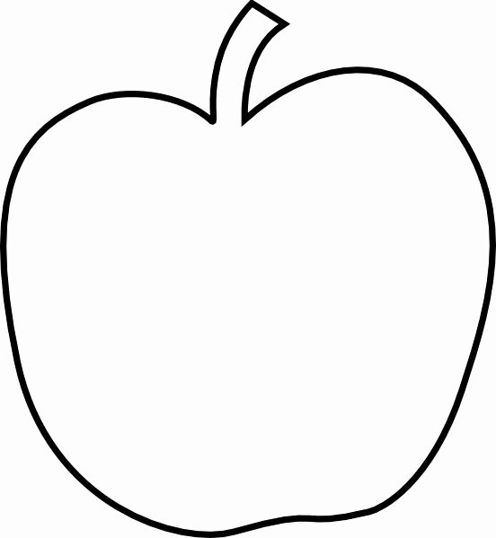 Apple Clipart Template Pencil and In Color Apple Clipart