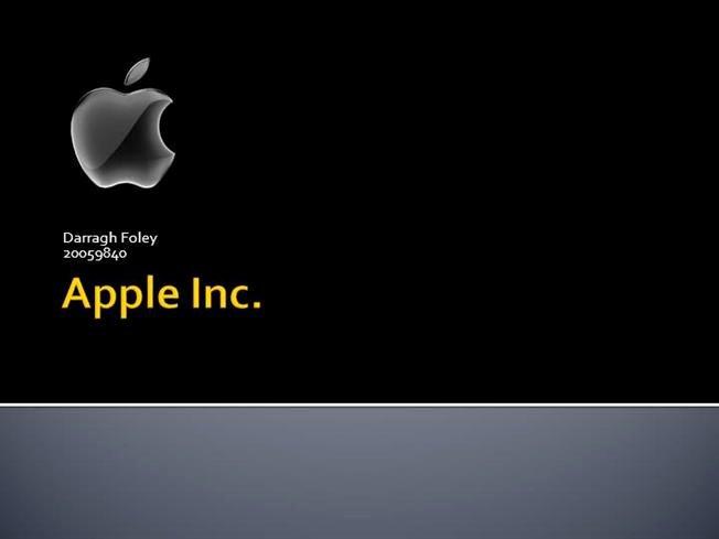Apple Inc Powerpoint Template Rebocfo