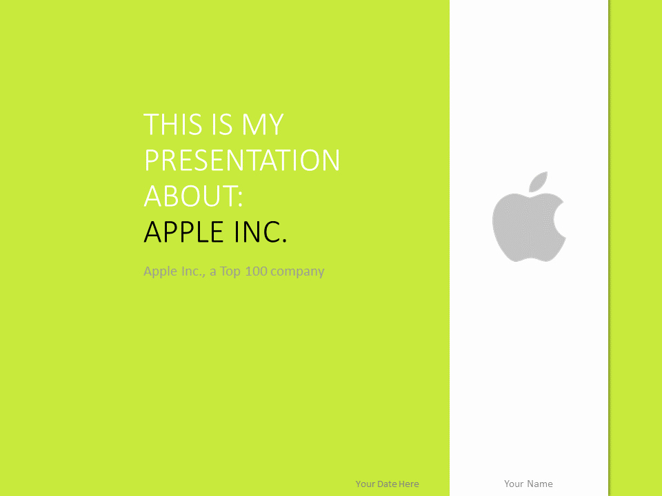 Apple Powerpoint Template Green Presentationgo