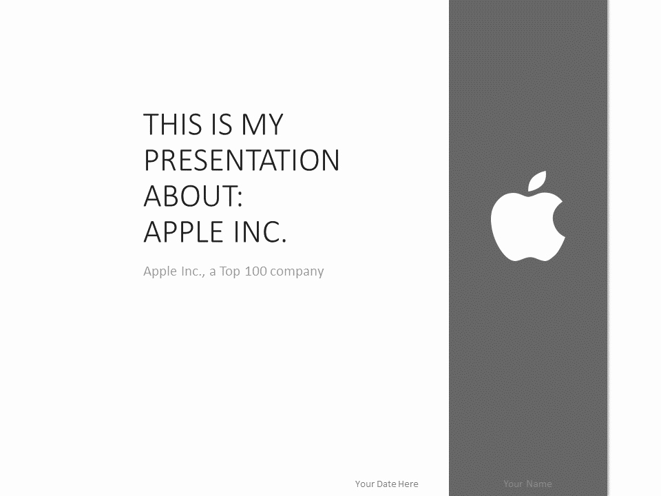 Apple Powerpoint Template Grey Presentationgo