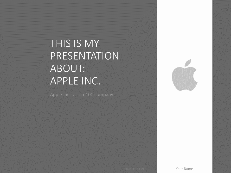 Apple Powerpoint Template Grey Presentationgo