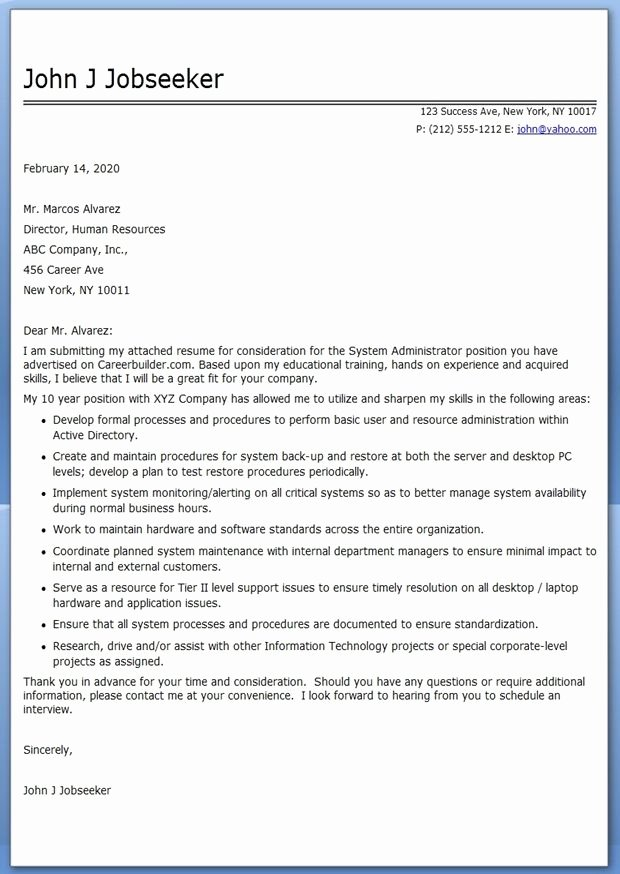 Cover Letter Human Resources | Latter Example Template