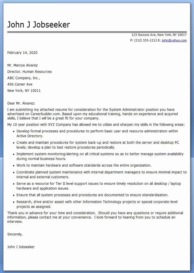 Application Letter Sample Hr Generalist Cover Letter Sample