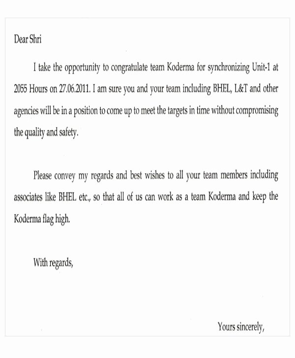 Appreciation Letter Templates 5 Free Sample Example