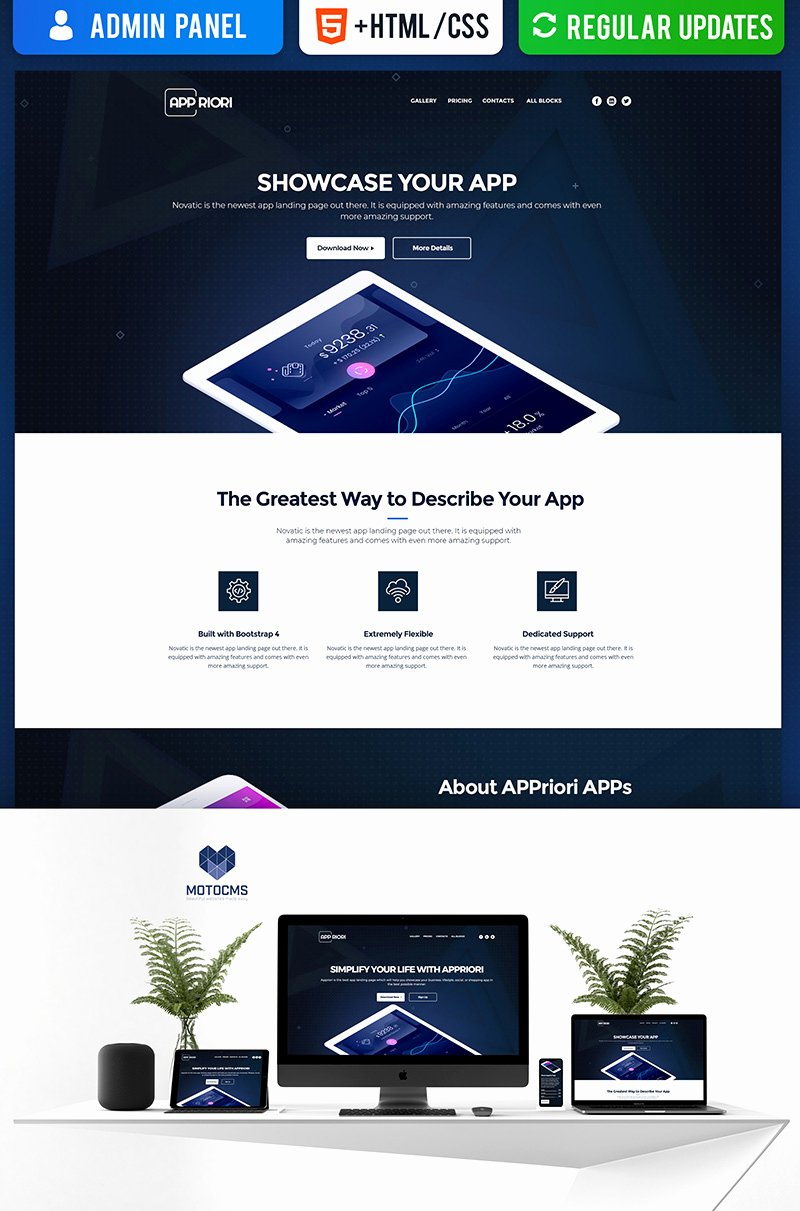 Appriori Mobile App Landing Page Template