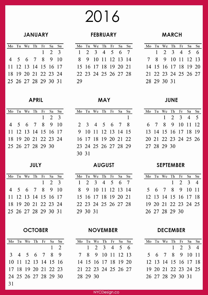 April 2016 Calendar Template – 2017 Printable Calendar