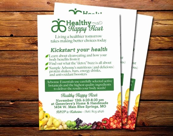 Arbonne Healthy Happy Hour Invitation Please Read This