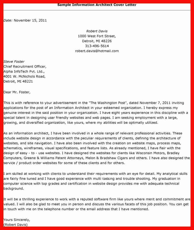 Solution Architect Cover Letter Sample Latter Example Template