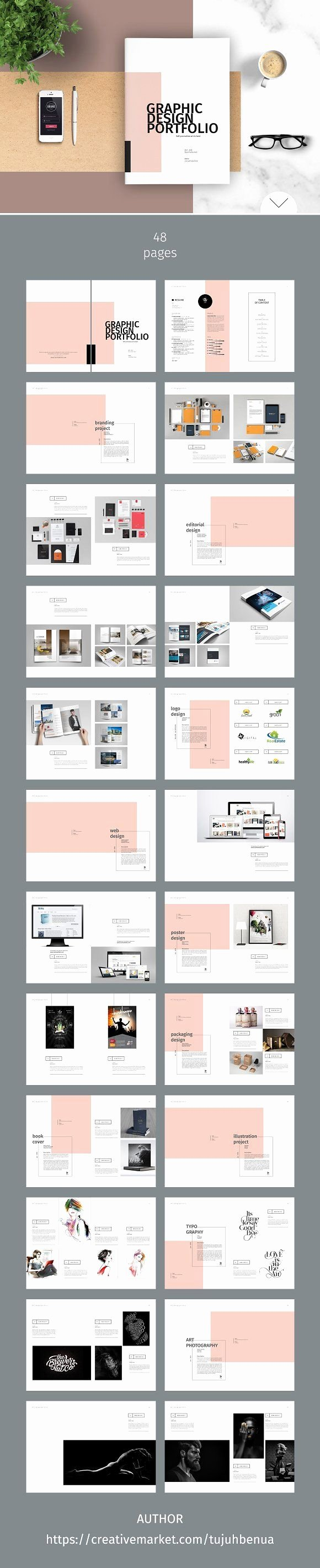 Architecture Portfolio Layout Indesign