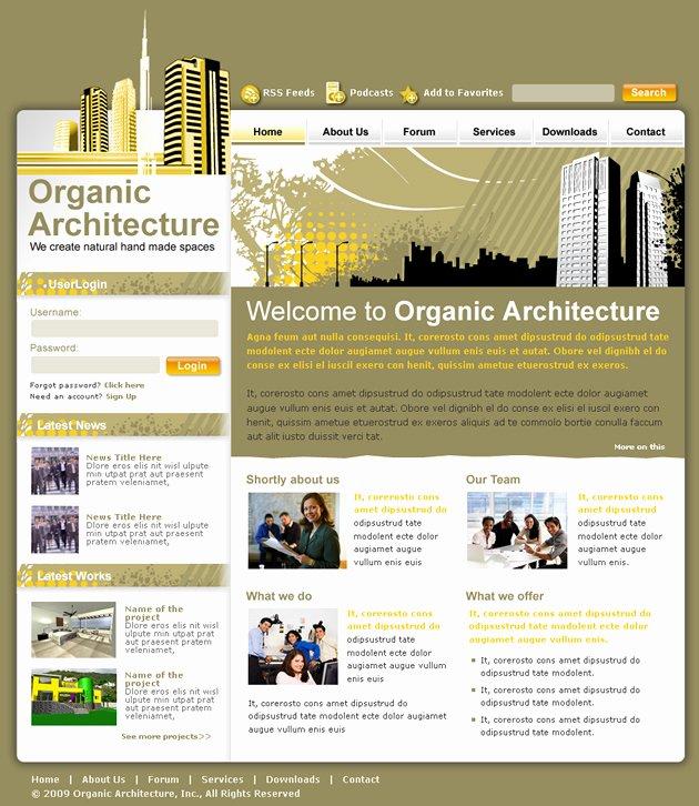 Architecture Studio Dreamweaver Templates