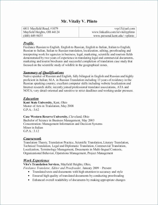 Areas Expertise Resume