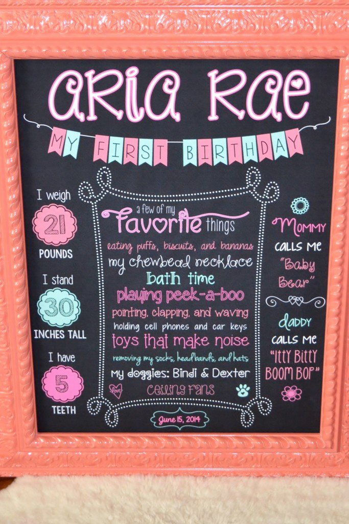Aria S 1st Birthday Party Project Nursery