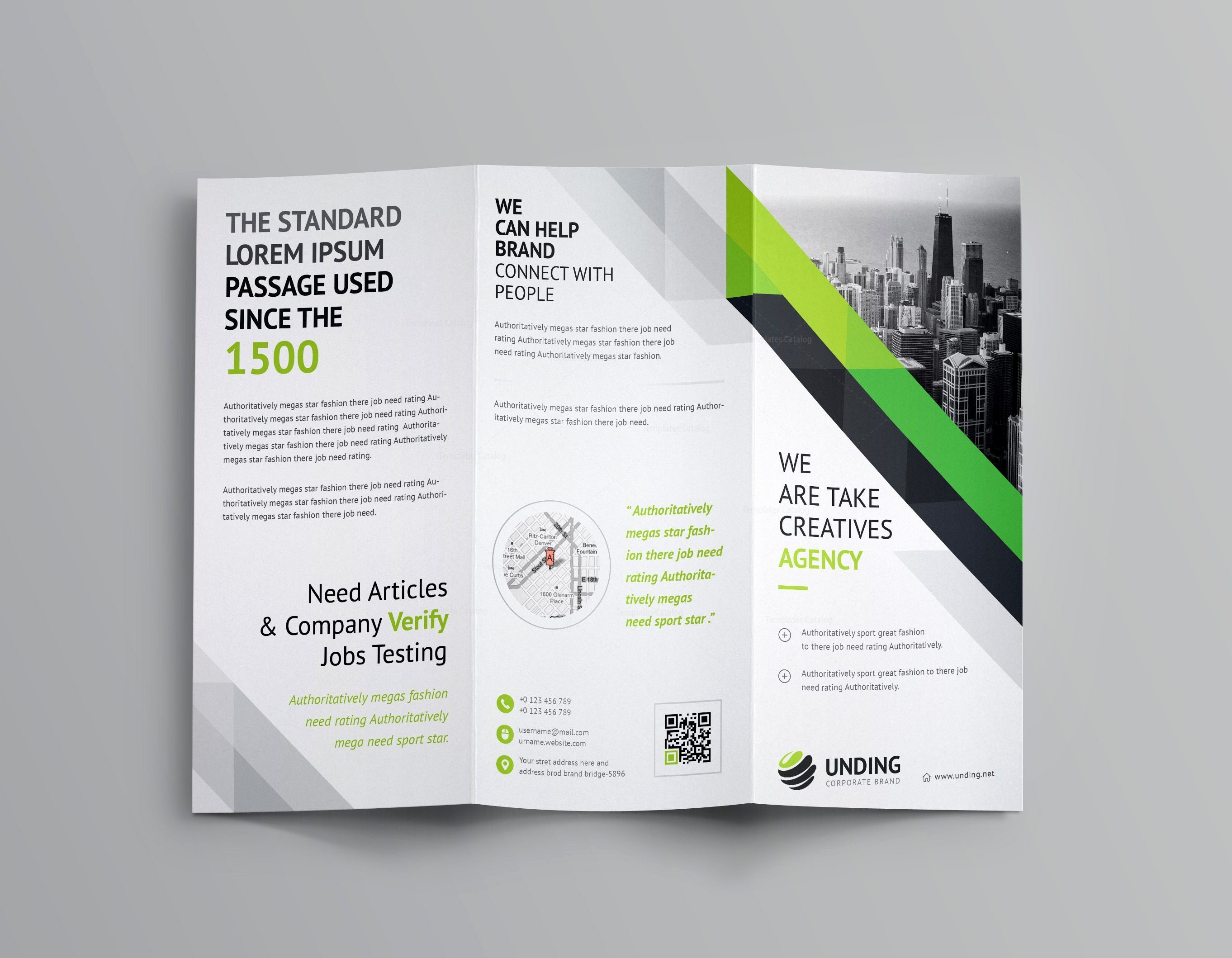 Aristaeus Corporate Tri Fold Brochure Template