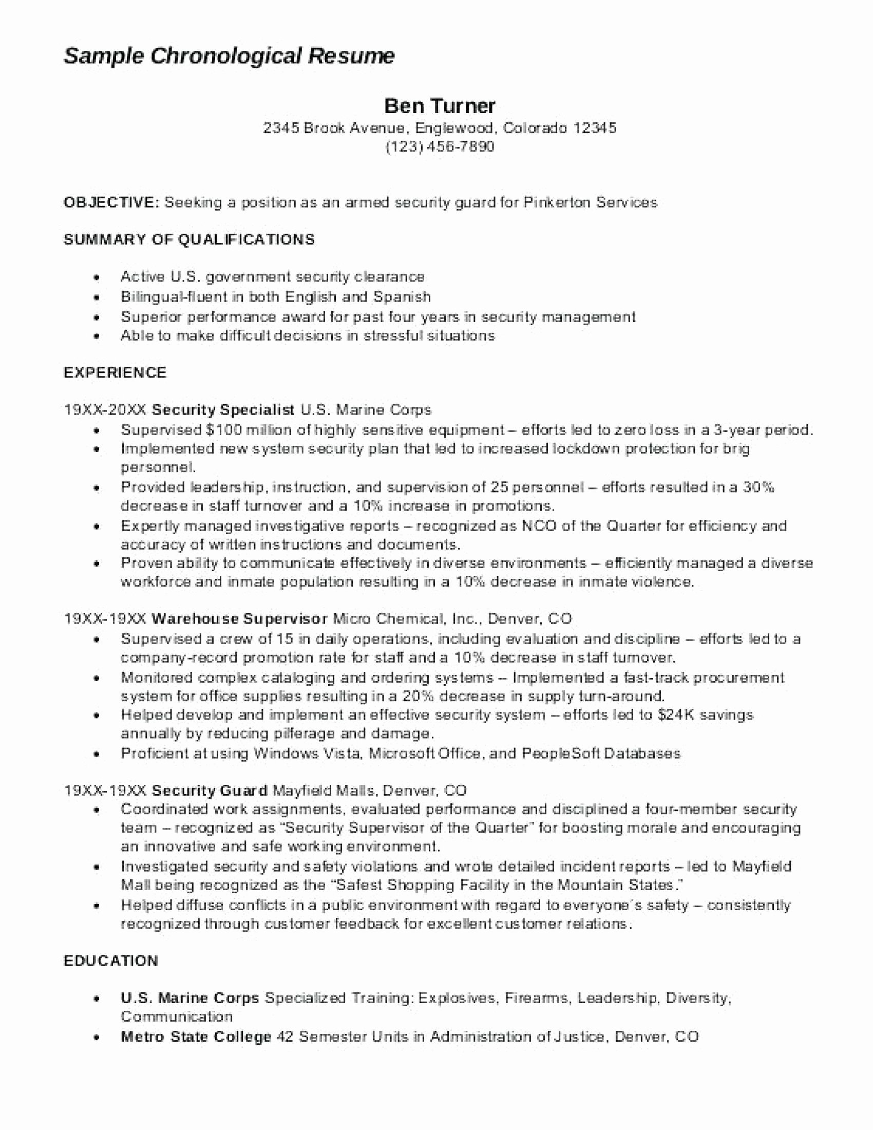 Armed Security Resume Armed Security Guard Resume Sample