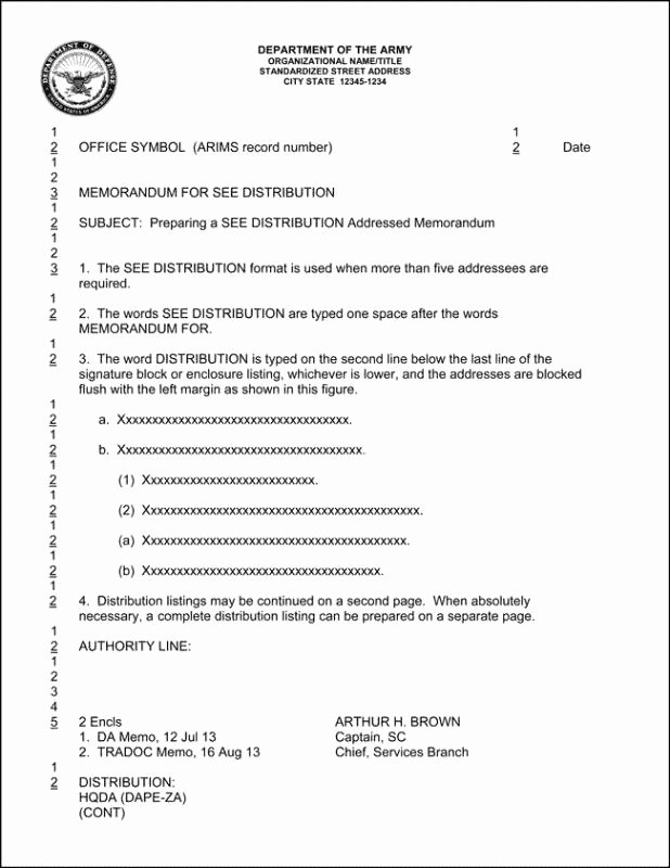 Army Memorandum for Record Template
