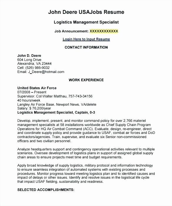 Army Us Air force Address for Resume Example Resumes