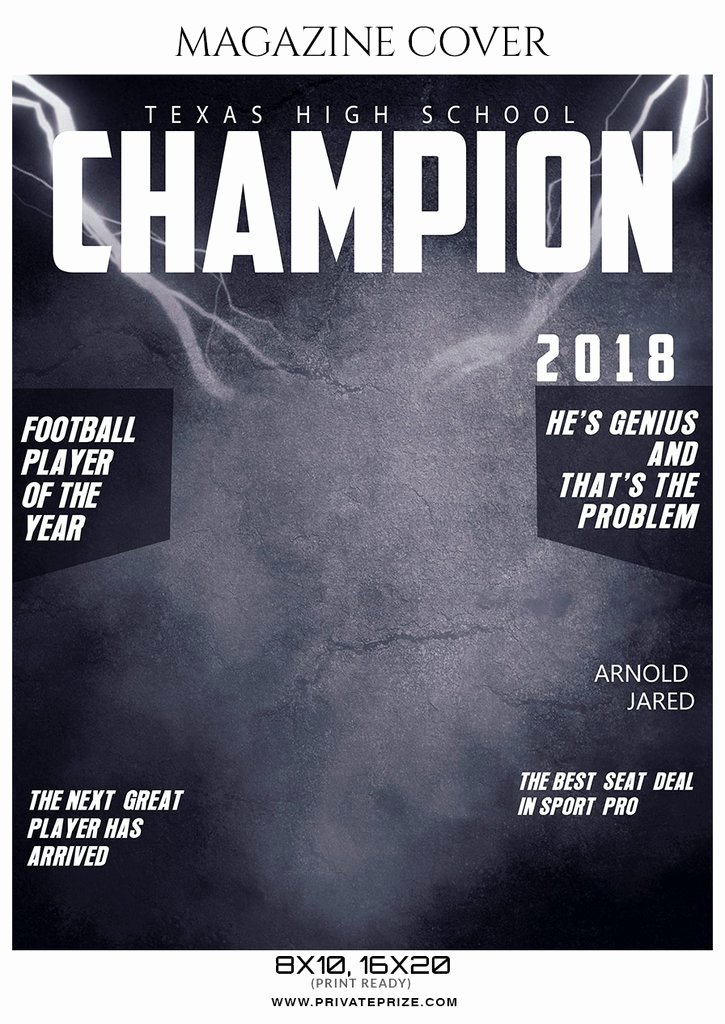 Arnold Jared Football Sports Magazine Cover Graphy