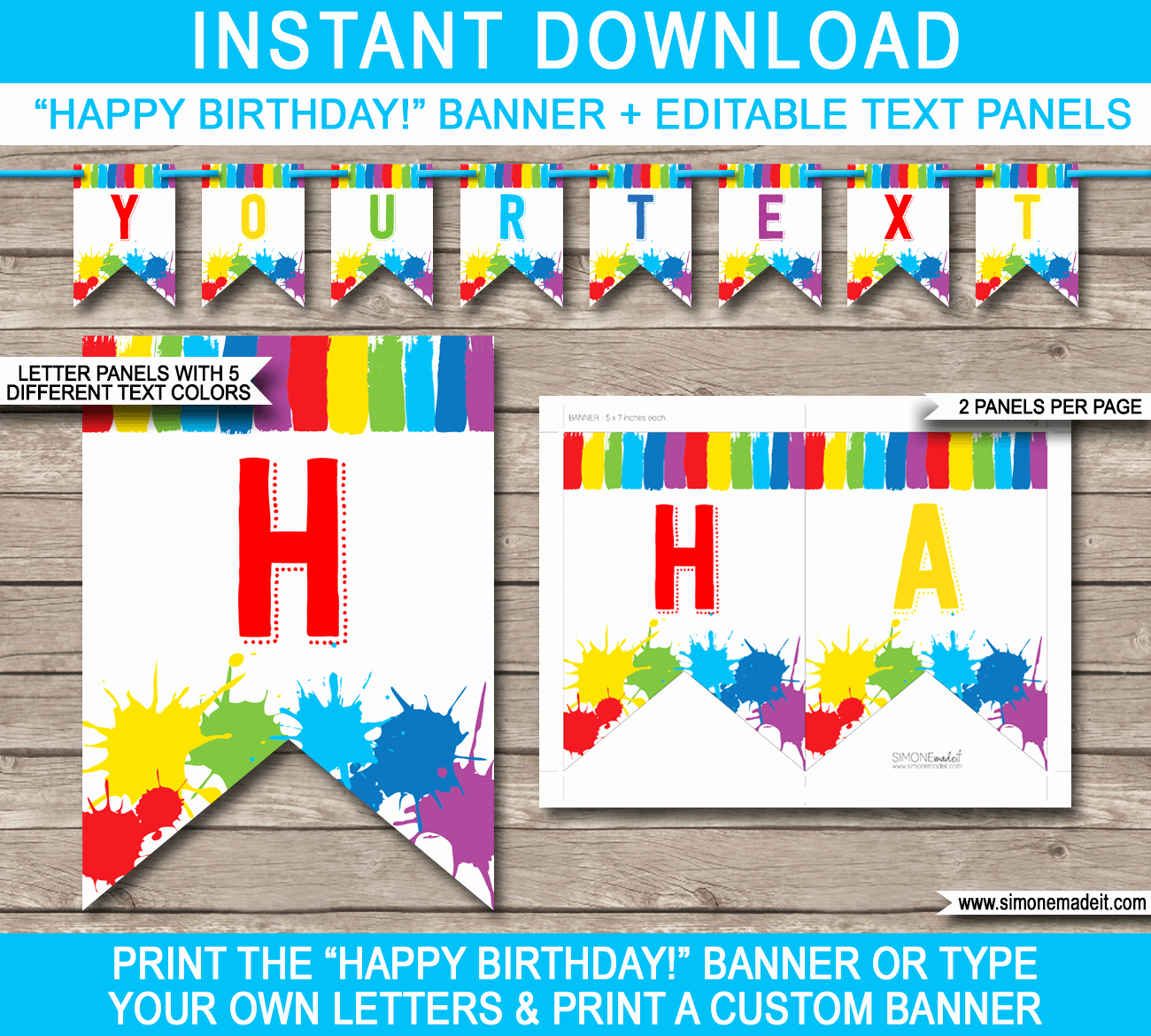 Art Party Banner Template Painting