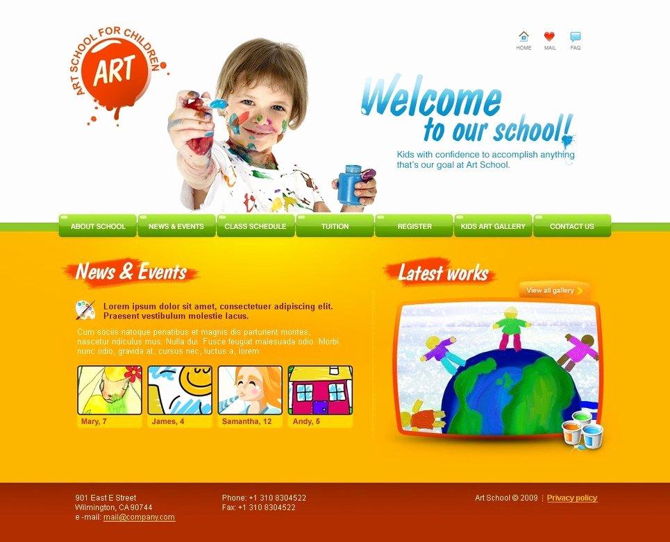 Art School Website Template