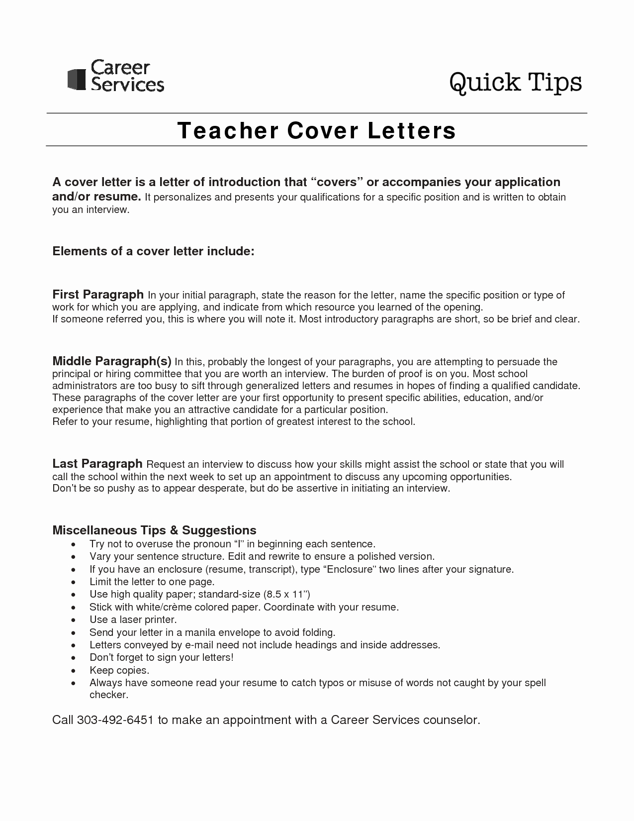 Art Teacher Cover Letter