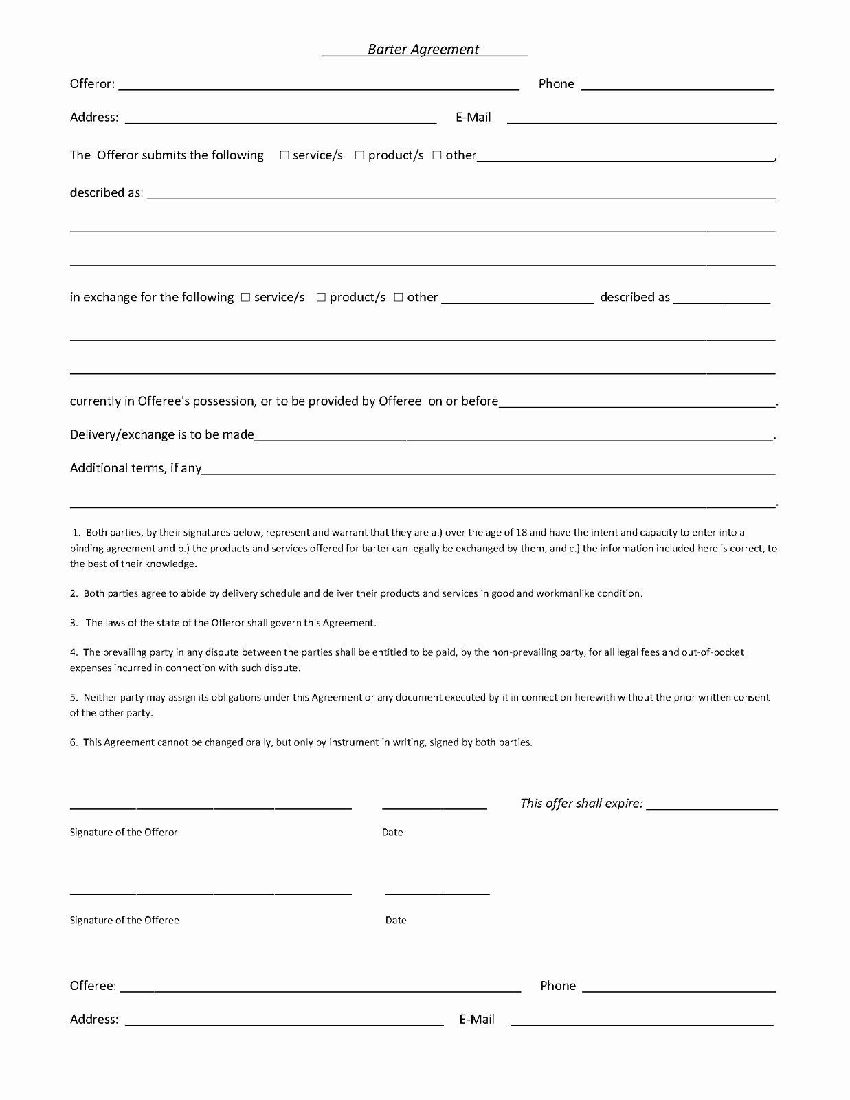 Artist Contract form
