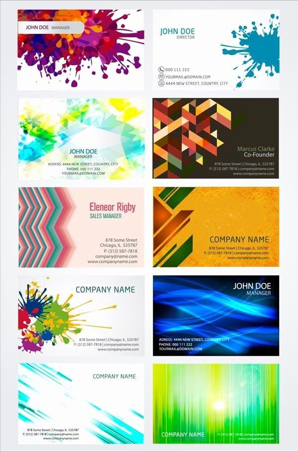 Artistic Business Card Design Templates Vector Illustrator