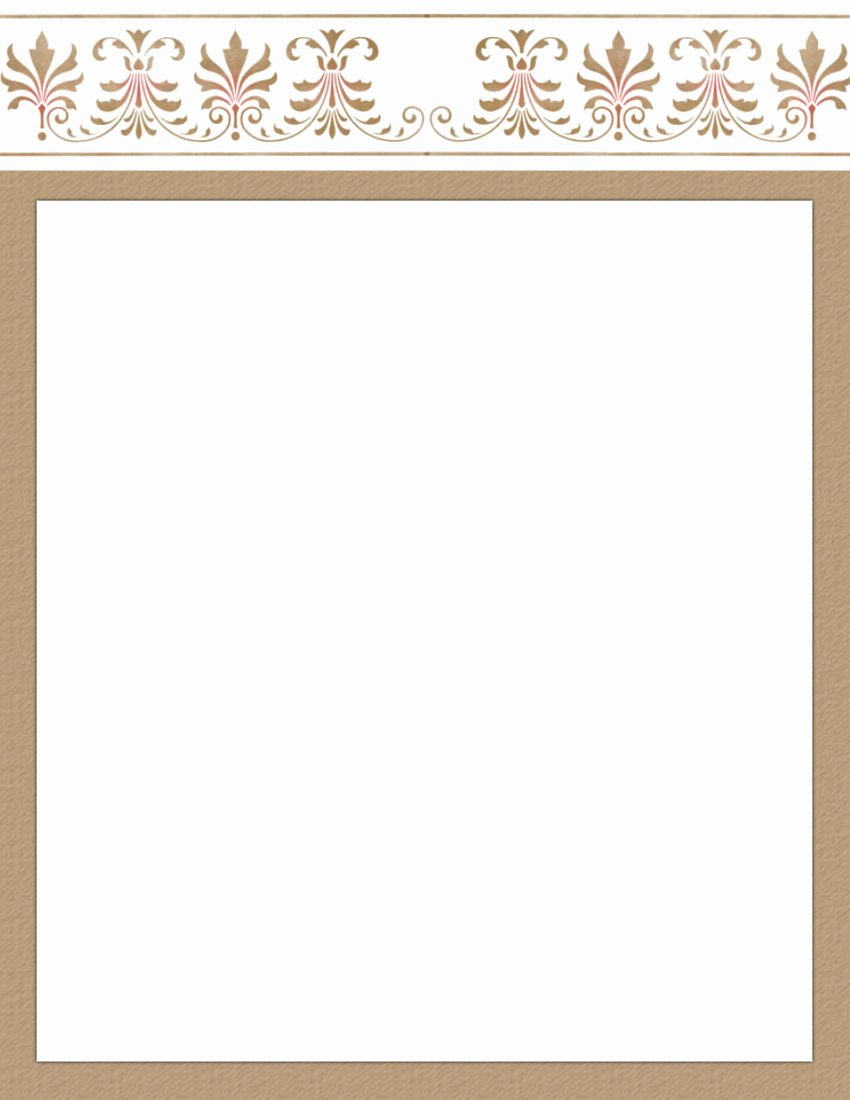 Artistic Page 1 Free Stationery Template Downloads