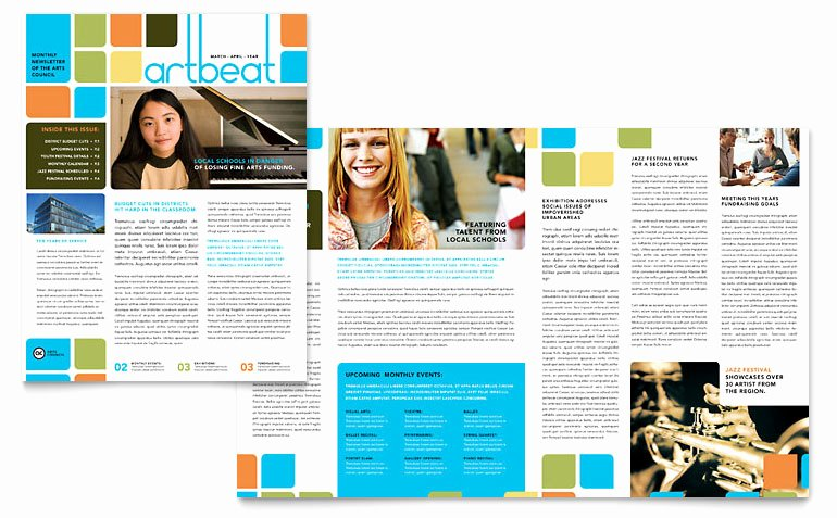 Arts Council & Education Newsletter Template Word