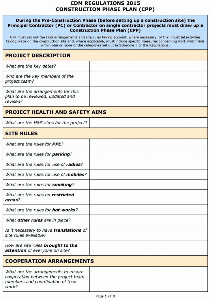 Assessment Construction Risk assessment Template