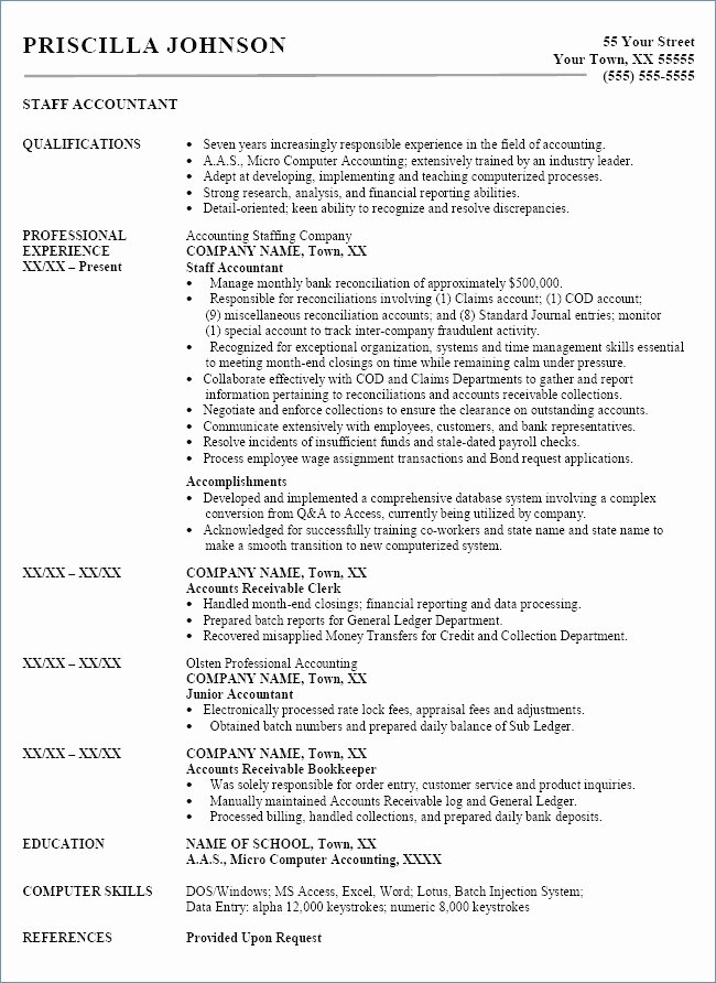 Assistant Accountant Job Description Resume