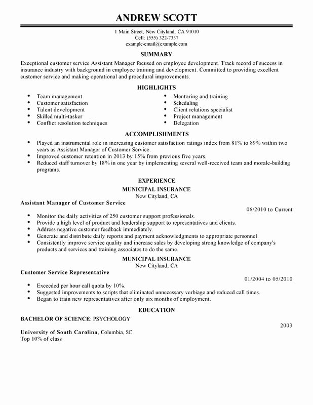 Assistant Manager Resume Examples Created by Pros