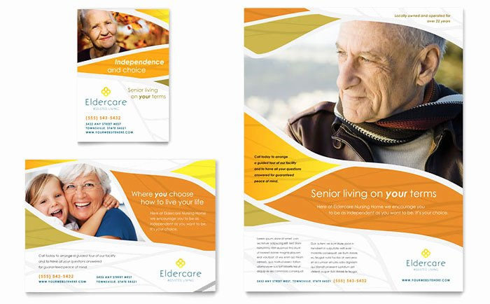Assisted Living Flyer Ad Template Design MD