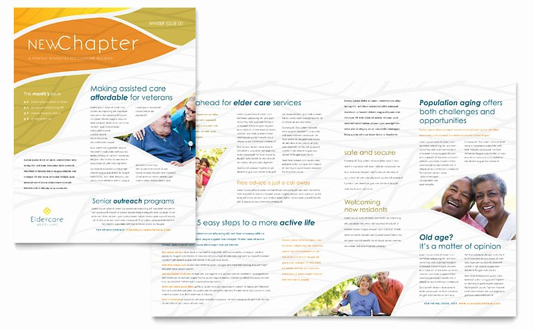 Assisted Living Newsletter Templates MD D