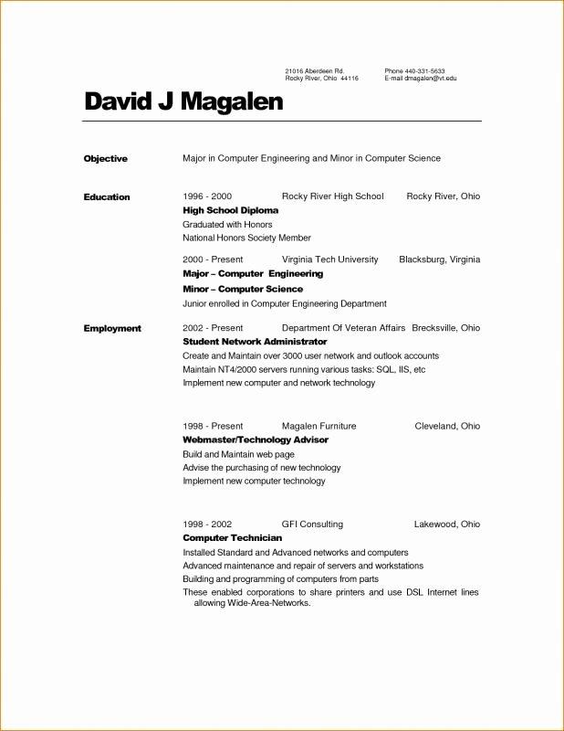 Associate Degree Resume Sample