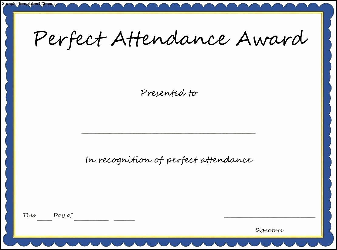 attendance certificates free templates
