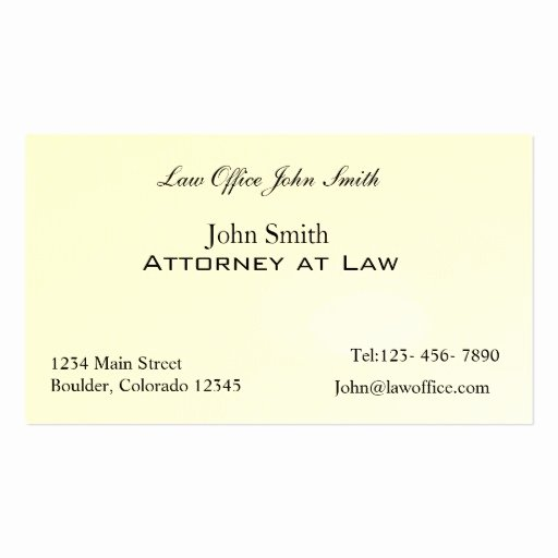 Attorney at Law Office Double Sided Standard Business