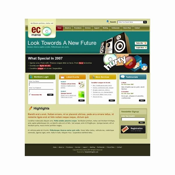 Attractive Beautiful and Free Dreamweaver Xhtml Templates